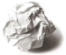 纸揉成一个纸球