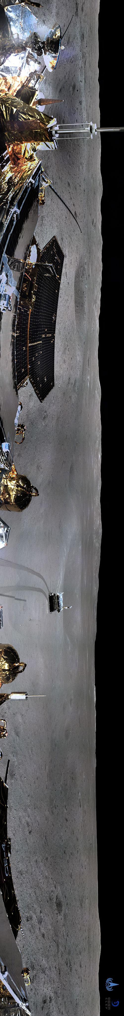 世界上第一张月球背面全景图