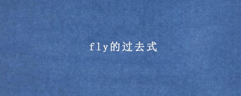 fly的过去式